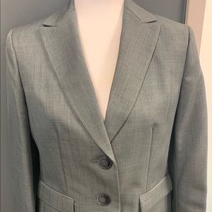 Light gray women's suit.